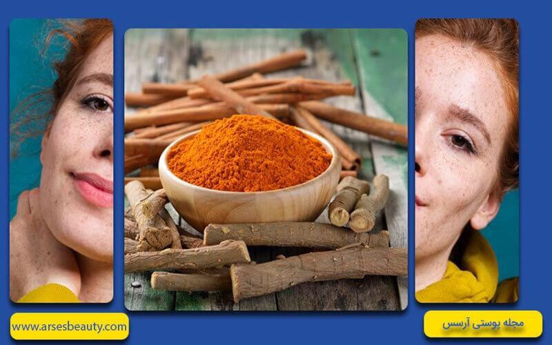 استفاده از ریشه شیرین بیان برای درمان لکه های سیاه روی پوست صورت